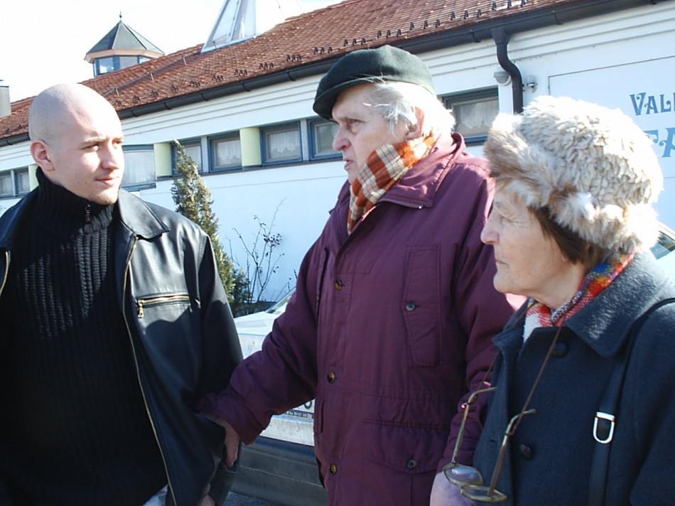 Ostoros György és felesége Andrissal, Veszprémben