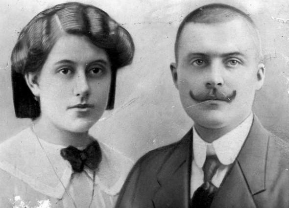 Steier Mária, később, Ómika és férje, Fájth István; a nagyszüleim.